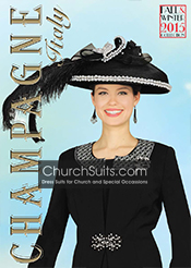Champagne Italy Fall/Winter Women Church Suits