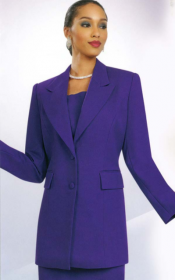 Church suits In-House Usher/ Choir Special Ben Marc Purple 2299
