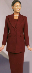 Church suits In-House Usher/ Choir Special Burgundy 2299