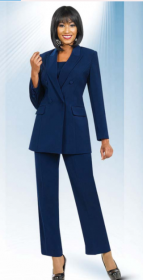 Church suits In-House Usher/ Choir Special Ben Marc Navy 10498