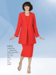 Aussie Austine Usher Suits Sizes 4 To 30 Poly Crepe Fabric 11812