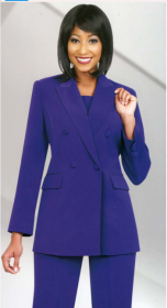 Church suits In-House Usher/ Choir Special Ben Marc Purple 11587