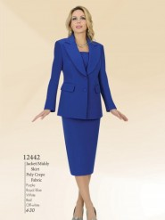 Aussie Austine Usher Suits Sizes 4 To 30 Poly Crepe Fabric 12442
